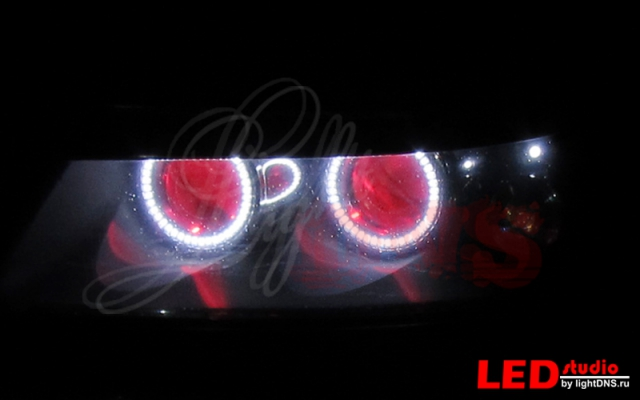 подсветка линз красного